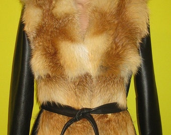 Fur vest. Handmade.