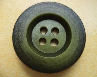 6 large buttons dark green 27mm (6202) button green coat buttons jacket buttons