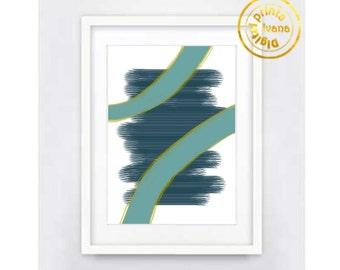 Printable wall art Digital Prints, modern teal blue wall art Home decor printable art, printable prints