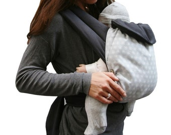 Baby-carrier Flocons of the birth to 15 kgs 100% biologic cotton