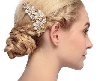 Wedding hair comb wedding hair accessory wedding comb hair piece bridal comb bridal hair piece decorative comb bridal hairpiece