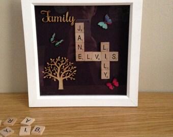 Family Tree 'Scrabble Art' Frame
