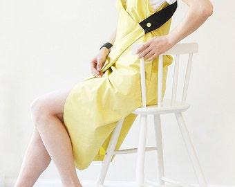 Contrast Wrap Slip Dress / Women's Dress /Summer Dress/Unique In style of Marni / Contrast Color Block / AnnaElle NYC