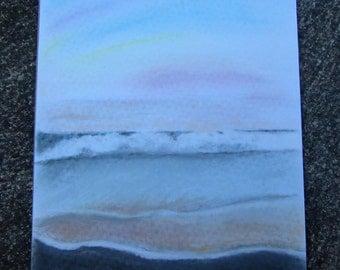 Ocean Waves Portrait | A3 Pastel Sketch