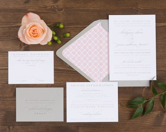 The Snapdragon Wedding Collection by Paper Daisies, Invitation Suite, Monogram, SAMPLE SET