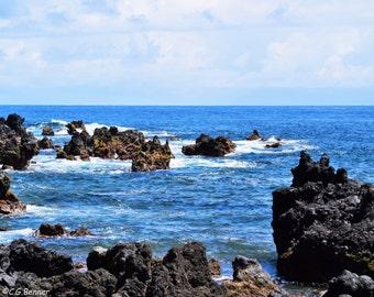 Keanae, Maui Volcanic Rocks 8x10 & 5x7
