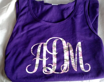 Personalized Initial tank top or T-shirt