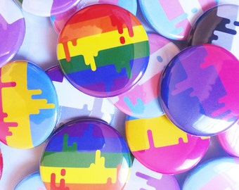 Button - Unique LGBT Queer & Transgender Pride Flags!