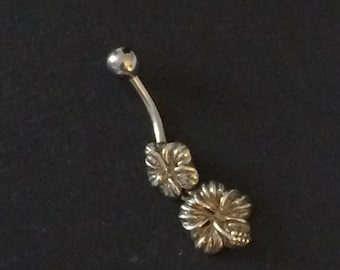 Hibiscus Belly Ring