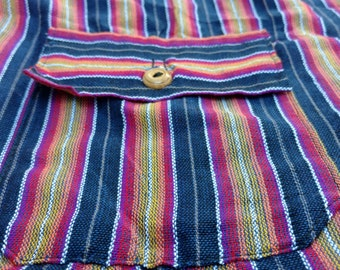 Purple Ecuadorian beach pants