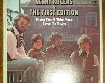 Kenny Rogers and the First Edition - Ruby Don'the Take Your Love to Town RS-6352 Vinyl Record LP 1969