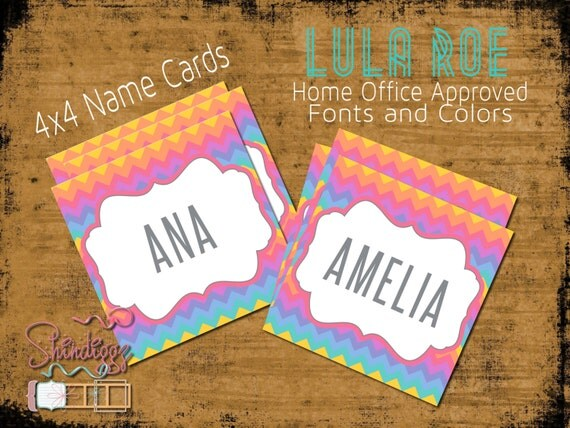 Lularoe name sheets lularoe collection names lularoe by for Lularoe name cards
