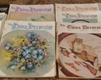 vinatage china decorater magazines