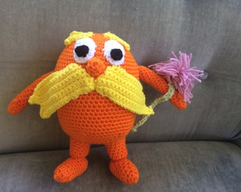 The Lorax Crochet Doll from Dr. Seuss