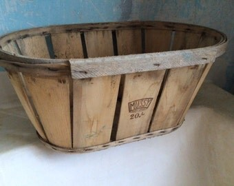 Vintage French Wooden Fruit Crate