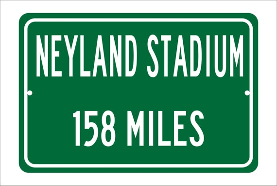 Custom College Highway Distance Sign to Neyland Stadium | Home of the Tennessee Volunteers | Personalized Distance to Neyland Stadium | Vols