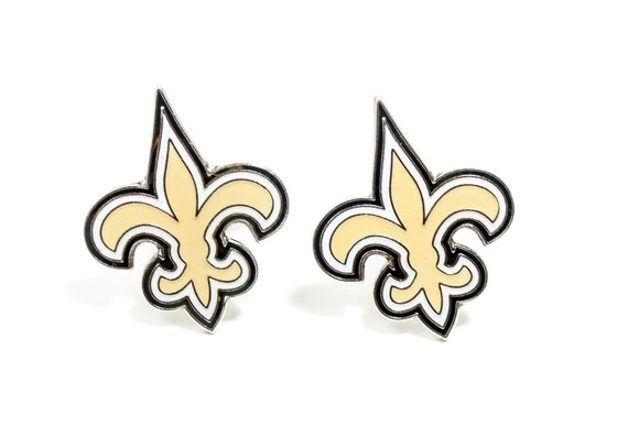 New Orleans Saints Cuff Links -- FREE SHIPPING with USPS First Class Domestic Mail