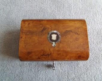 Antique Figured Walnut Box