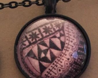 Doodle necklace - 1 inch pendant