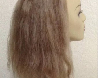 Wiglet Hand Tied 100% Human Hair Blonde/Brown Topper, Half  Wig, Top Piece, Extensions, Add-On, Fall, Enhancer. Crown, fringe, bangs #5