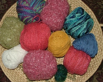 Mystery Grab Bag, 2 lbs, Mostly Boucle, Assorted Weights, Colors and Fibers Destash Crochet Knit - Box 13