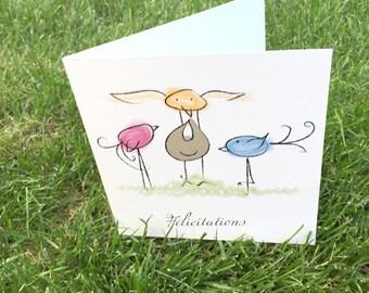 Illustrated card congratulations