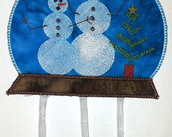 """FSA Seasonal Mobile Winter Project  ( 5 """"Free Standing Applique"""" Machine Embroidery Designs to make project from ATW )"""