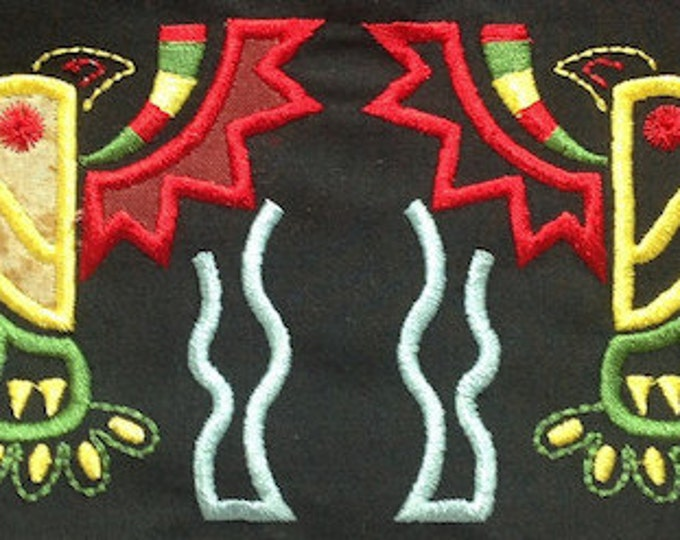 Native Eagles Mola Style with Applique  ( 20  Machine Embroidery Designs from ATW )