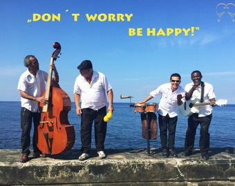 "Greeting card ""Dont worry be happy"" - Africa project"