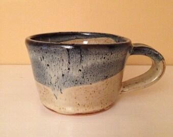 Small Blue/Cream Soup Mug