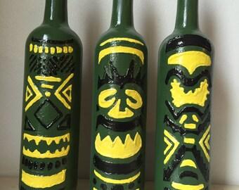 Tiki Torch Wine Bottles