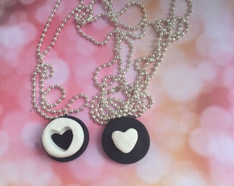 BFF Oreo necklace/ best friend necklace/ bff necklace/ kawaii/ fake food jewelry/ best friend oreo necklace/ best friend jewelry/ fake food
