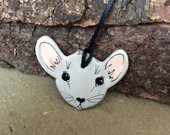 Handmade ceramic Doormouse decoration/ gift tag