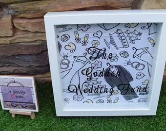 Money Box Frame, Holiday Fund, Wedding Fund, New House Fund, Wedding Fund