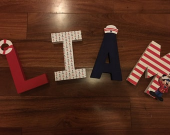 Mickey Theme Letters