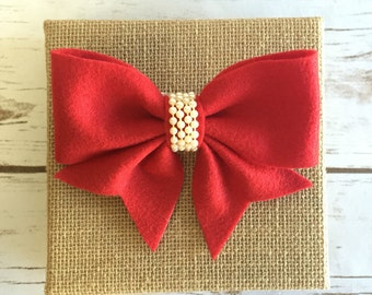 Felt ribbon on canvas