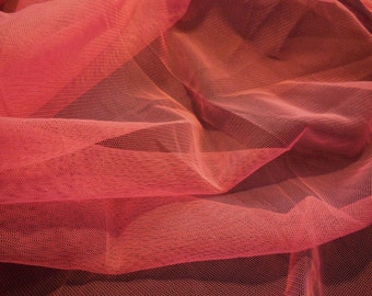 Sharp pink soft tulle fabric dress sewing polyester tulle fabric DIY is for sale . Sold by Per 0.5Meter
