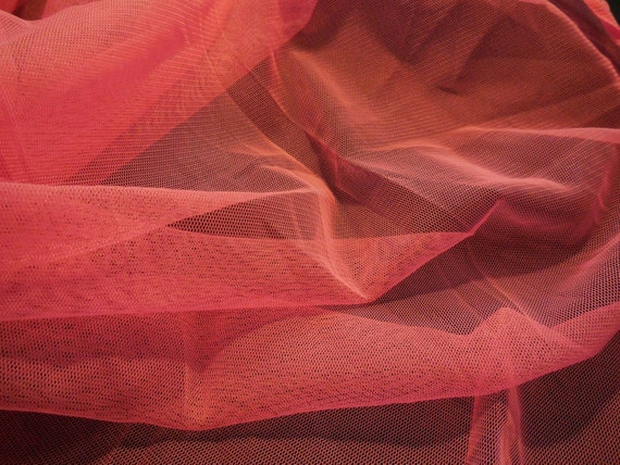 Sharp pink soft tulle fabric dress sewing polyester tulle for Sewing material for sale