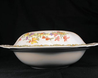 Round Covered Vegetable Bowl by Old Staffordshire by Johnson Brothers, England
