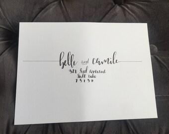 Custom Wedding Occasion Brush Calligraphy Envelopes- The Belle