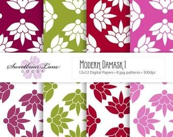 Modern Damask 1 Digital Papers