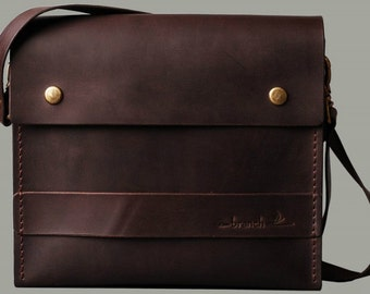 Small dark brown leather bag Constantina