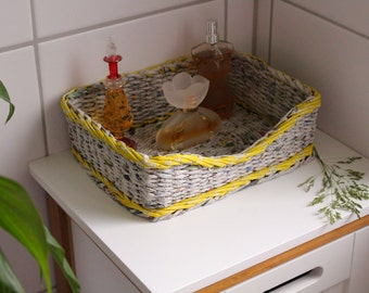 Punnets for odds and ends, cosmetics, Allzweckutensilo, basket made of paper