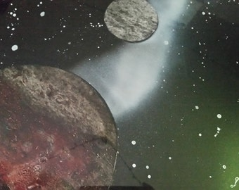 Rocky Planet Painting