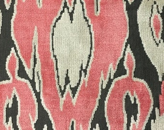 Upholstery Fabric - Harrow - Coral - Abstract Cut Velvet Home Decor Upholstery & Drapery Fabric by the Yard - Available in 16 Colors