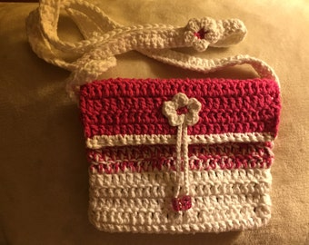 Little pink and white bag