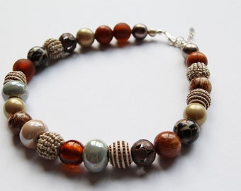 Brown Mix Necklace