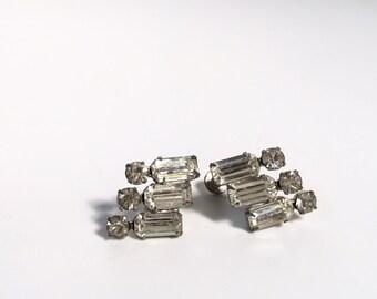 Rhinestone Deco Style Clip-ONs