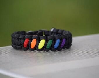LGBT/ Rainbow paracord bracelet