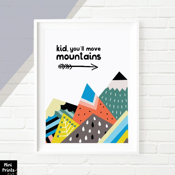 Dr Seuss Kid You Ll Move Mountains: 50% OFF SALE Kid You'll Move Mountains Nursery By